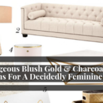 6 Gorgeous Blush Gold & Charcoal Grey Rooms For A Decidedly Feminine Look