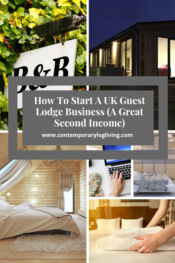 How To Start A UK Guest Lodge Business (A Great Second Income) Guest Lodges, B&B, AirBNB are all bringing in residual income to UK property owners looking to cash-in on BREXIT and our passion for weekend breaks, travelling, walking, cycling and experiences. After initial set-up costs it pays for itself over & over again. #guestlodges #guestlodgeUK #guestlodgebusinessUk #AirBNBUK #B&BUK #secondincomeUK #planningpermissionholidayletsUK #holidayletsUK