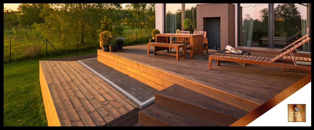 """Contemporary Log Living Outdoor Living Spaces"""