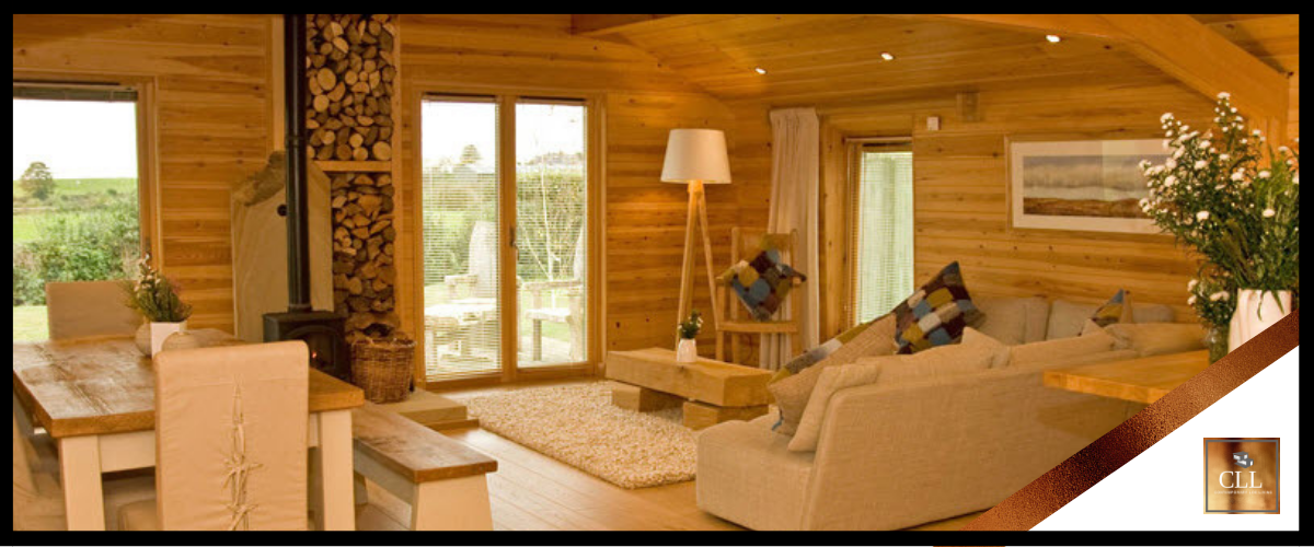 """Contemporary Log Living Guest Lodges"""