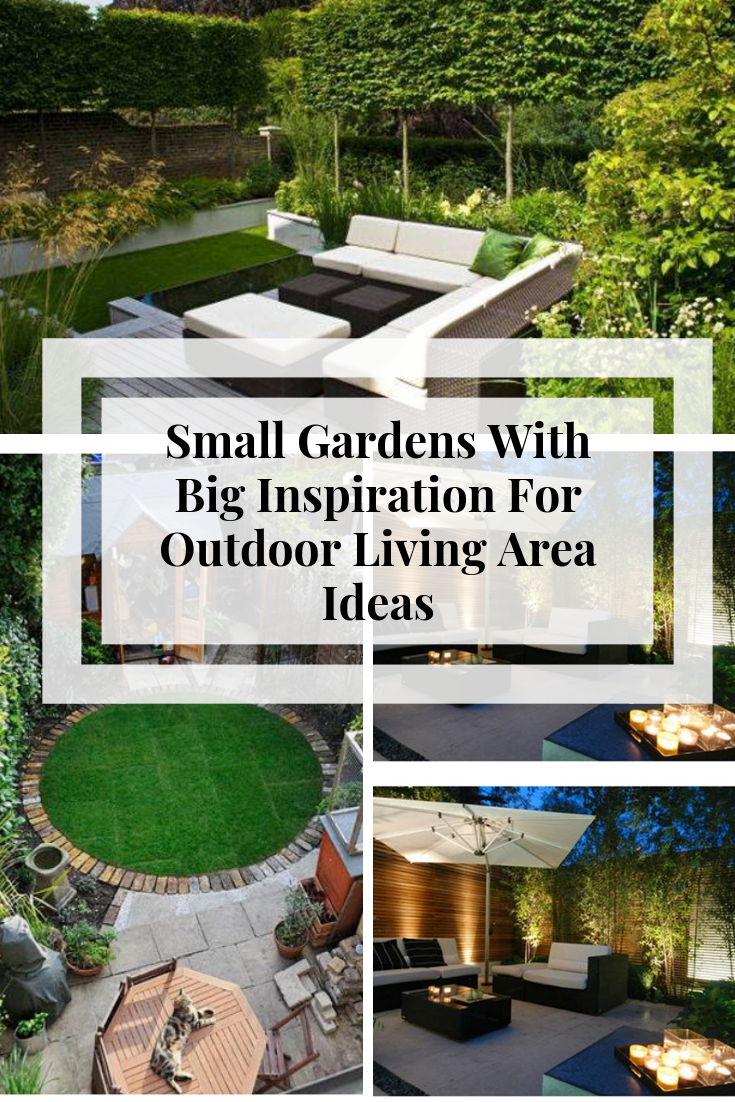 Small Gardens With Big Inspiration For Outdoor Living Area Ideas. So we've put together some of our favourite outdoor living areas for small and medium-sized gardens that will have you rethinking your outdoor living spaces for years to come #outdoorlivingUK #moderngardendesign #lowmaintenancegarden