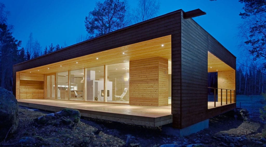 """contemporary finnish log home"""