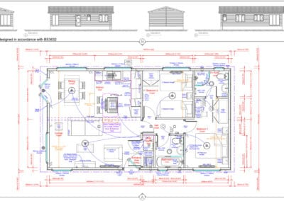 BURLEIGH 36 x 20 Standard Floor Plan And Elevations