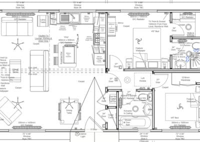 Buckland 36 x 20 2 Bedroom Floor Plan (Master Bedroom with en-suite)