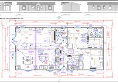 ' 2 bedroom floor plan and elevations