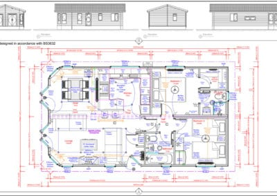 Navigator 36 x 20 Standard Floor Plan And Elevations