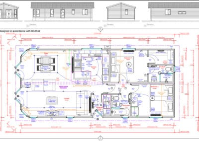 Navigator 45 x 20 Standard Floor Plan And Elevations