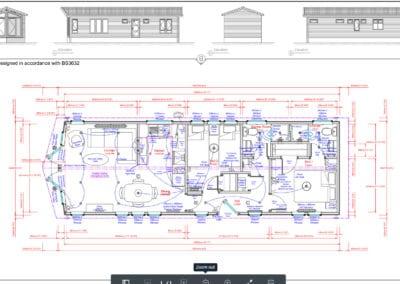 Seascape 41 x 14 2 Bedroom Floor Plan and Elevations