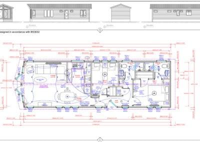 Seascapee 45 x 14 2 Bedroom Floor Plan And Elevations