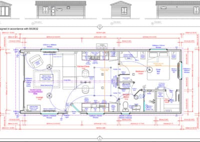 The Studio 36 x 14 Standard Floor Plans And Elevations ( 1 BED)