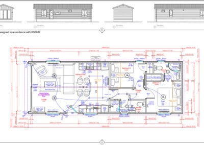 The Studio 42 x 14 Standard Floor Plans And Elevations ( 2 Bed )