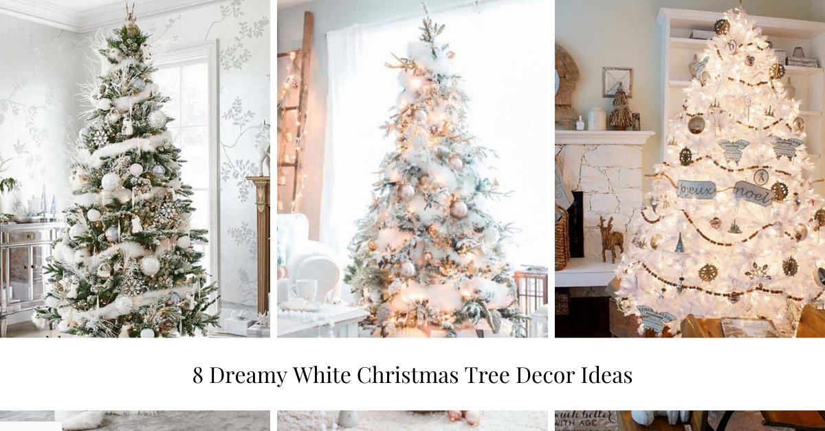 8 Dreamy White Christmas Tree Decor Ideas Contemporary Log Living