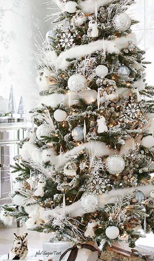 """""""Christmas Tree White Decor Ideas"""""""