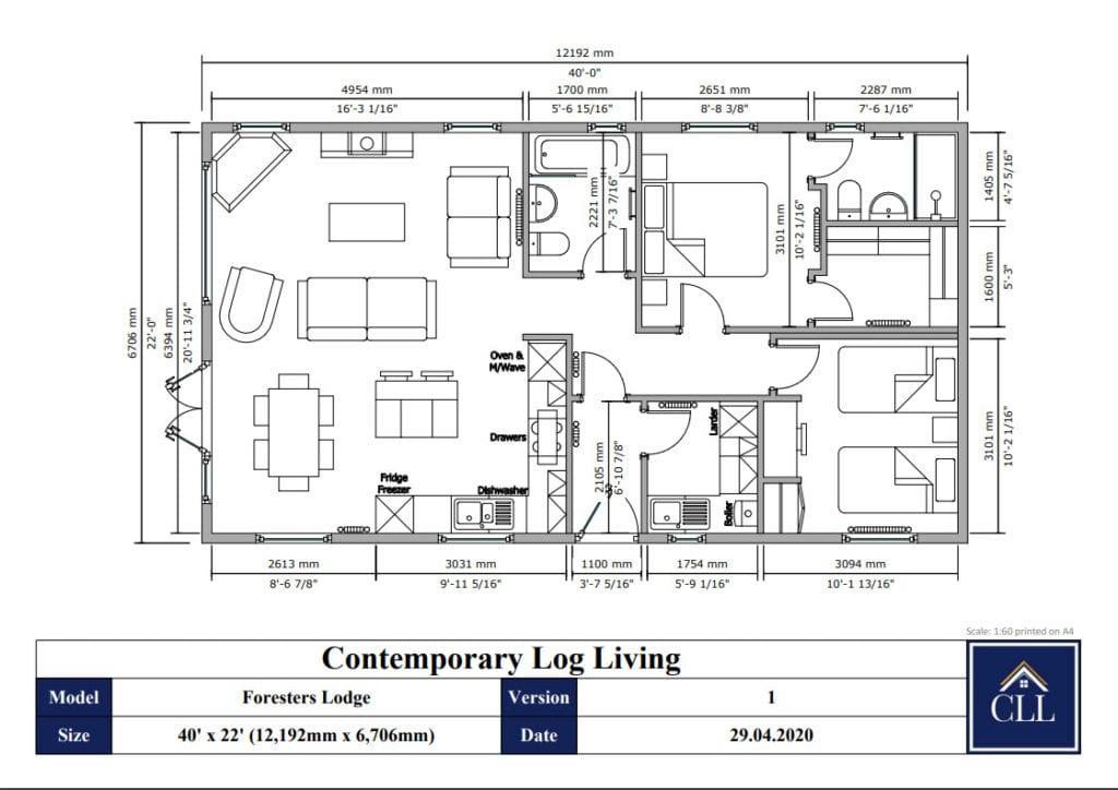 """"""" 2 bedroom annex floor plan"""""""