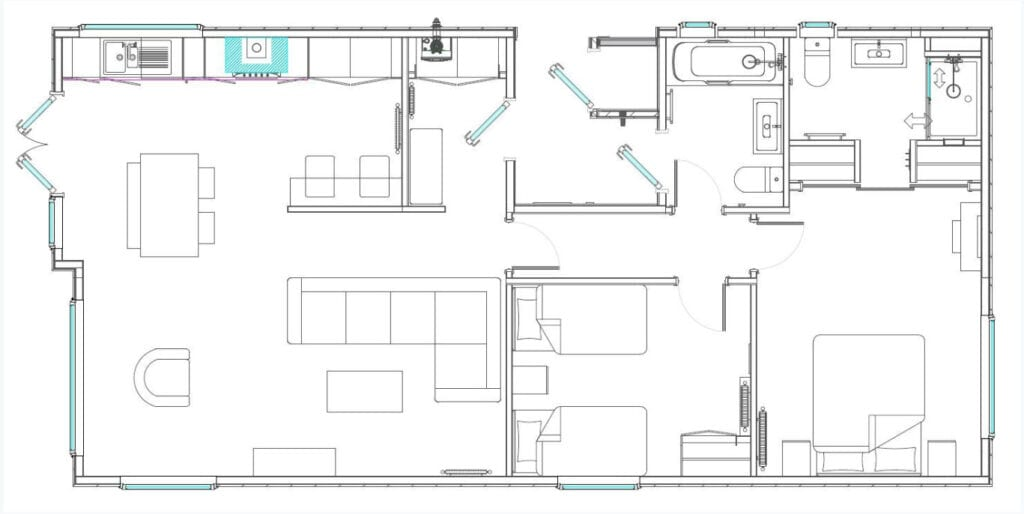 """Samphire Floor Plan 45 x 22"""