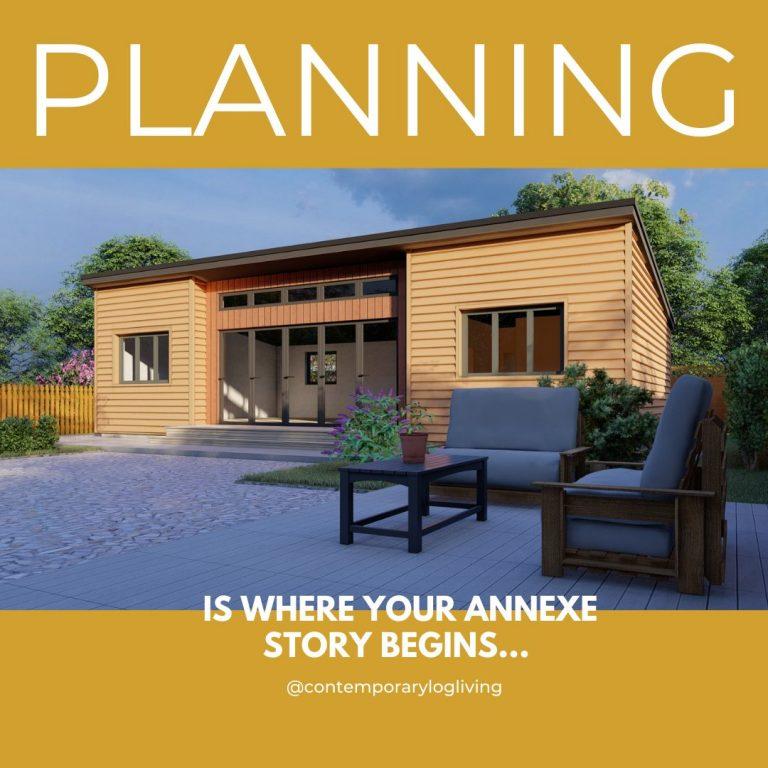"""Contemporary Log Living Planning Permission"""