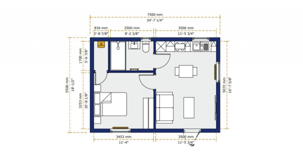"""""""Granny Annexe Floor Plan"""""""