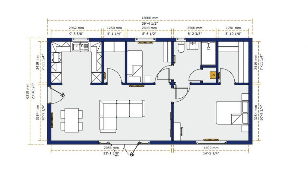 """granny annex floor plan"""