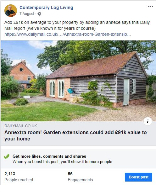 """""""Estate Agents See Increase in Granny Annexe for Sale"""""""