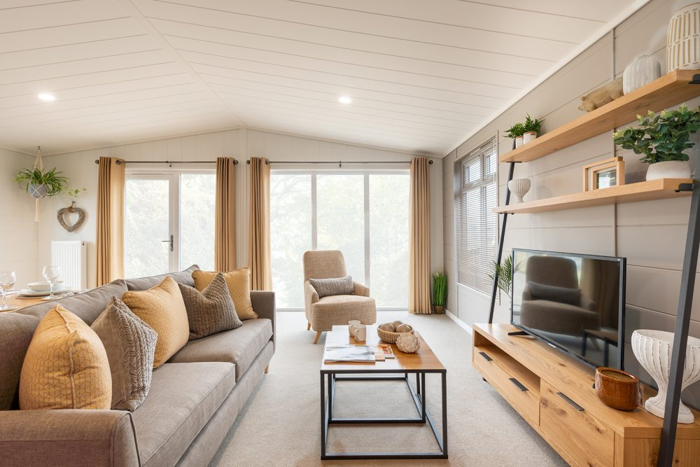 Prestige Harleigh holiday lodge living room
