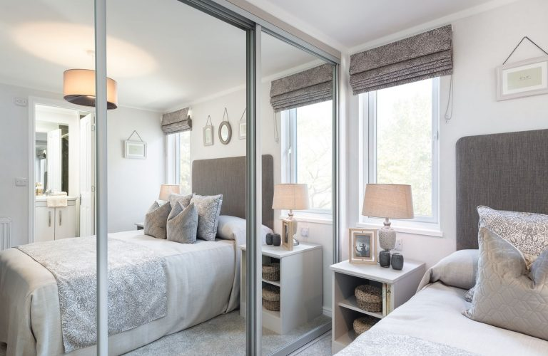 Wardrobes are fitted as standard in either our custom annexe ranges or our garden lodges